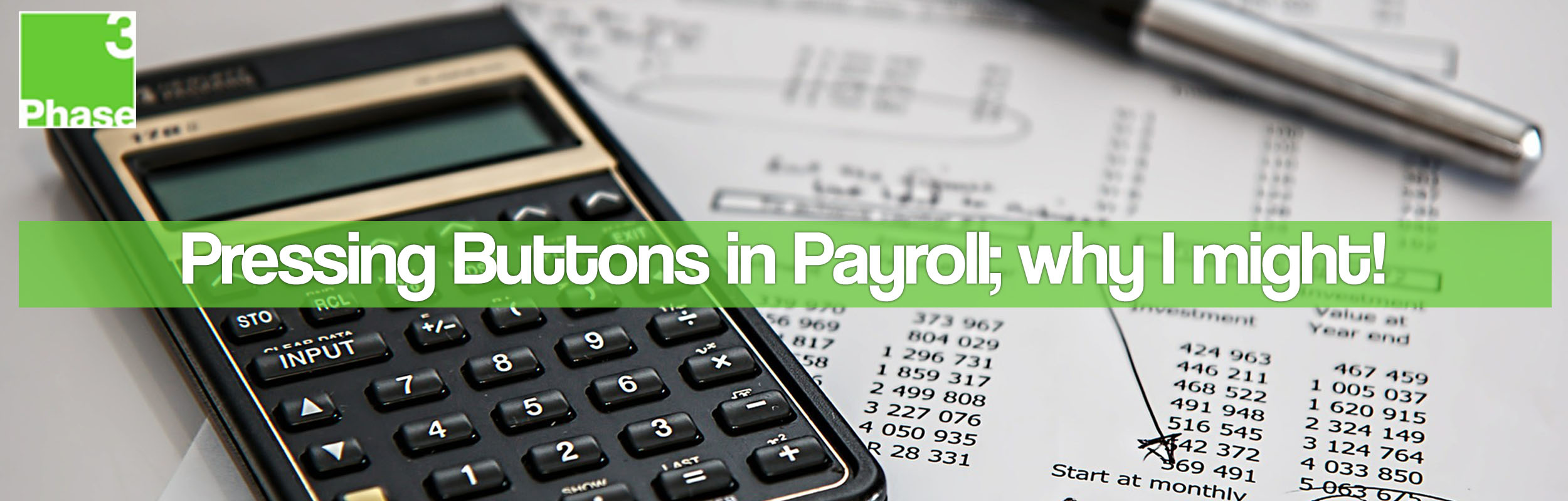 Calculator with some payroll documents