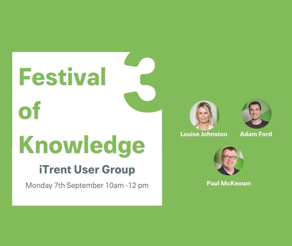 Festival of Knowledge – iTrent Usergroup event image horizontal