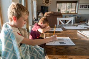 Children being home-schooled