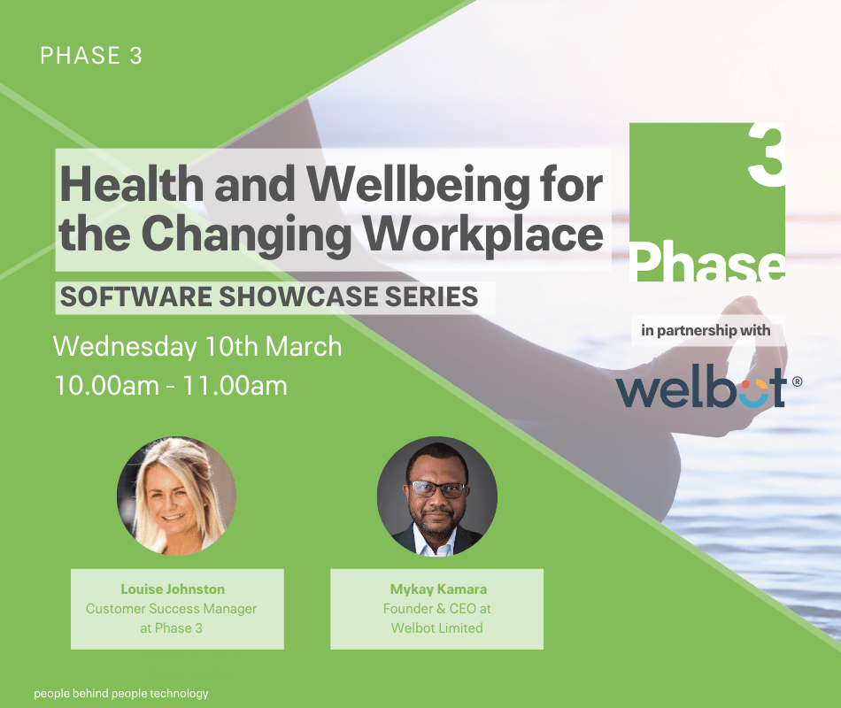 Phase 3 Presents Welbot: Health and Wellbeing for the Changing Workplace event image horizontal