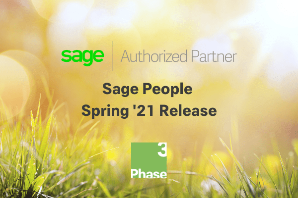 Sage People Spring '21 Release Cover Photo