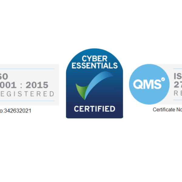 We're ISO and Cyber Essentials Certified! hero image